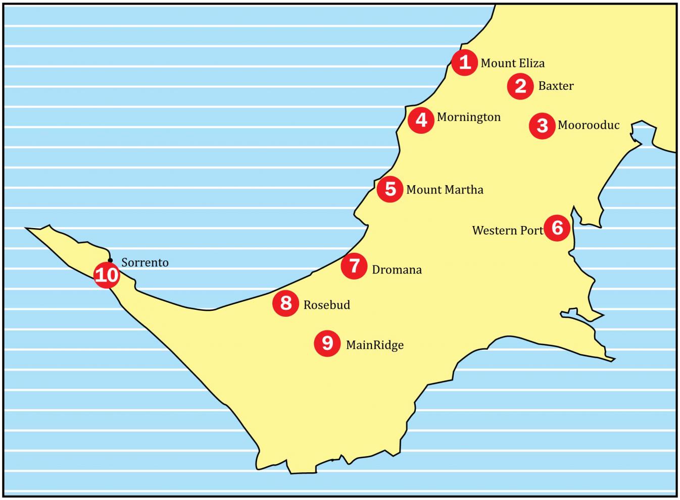 Mornington Peninsula Map